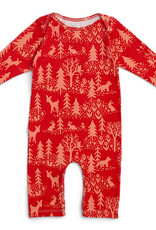 Winter Water Factory Long Sleeve Romper Winter Cranberry