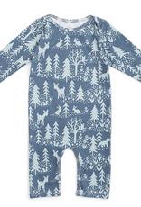Winter Water Factory Long Sleeve Romper Winter Slate Blue