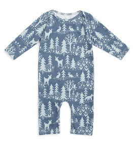 Winter Water Factory Long Sleeve Romper Winter Slate Blue