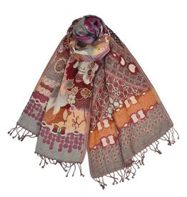 Dupatta Designs Scarf Hawthorne Orange and Purple