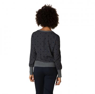 Yest Sweater in Blue Ikat