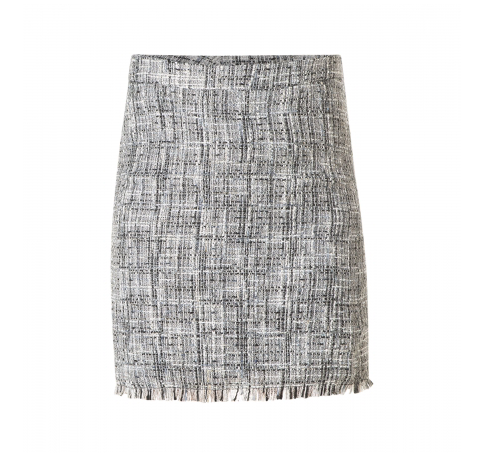 Yest Woven Skirt in Black and Grey