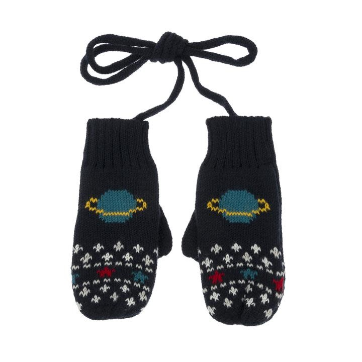 Sophie Allport Child Knitted Mittens Space