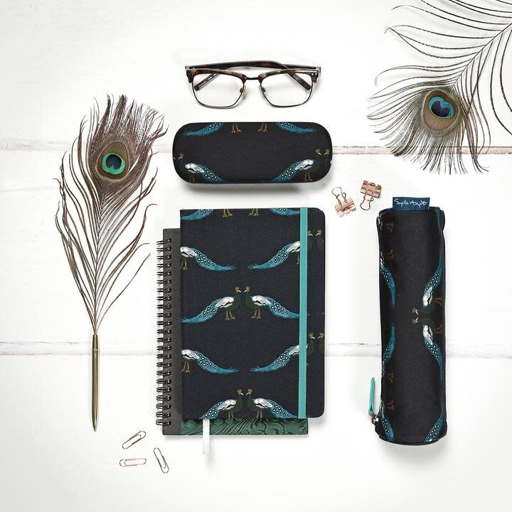 Sophie Allport Pencil Case Small Peacocks