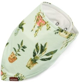 Milkbarn Bamboo Kerchief Bib in Plants