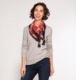 Rockflowerpaper Silk Scarf Gianna Red