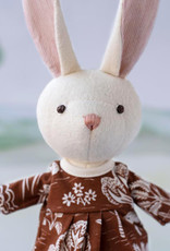 Hazel Village Stuffed Animal Emma Rabbit in Forest Dress