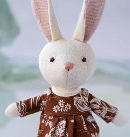 Hazel Village Stuffed Animal Emma Rabbit in Forest Dress