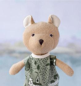 Hazel Village Stuffed Animal Nicholas Bear Cub in Castles & Villages Romper