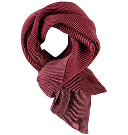 Fraas Shimmer & Shine Plisse Scarf in Rust