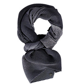 Fraas Shimmer & Shine Plisse Scarf in Charcoal