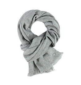 Fraas Vertical Threads Scarf in Greay