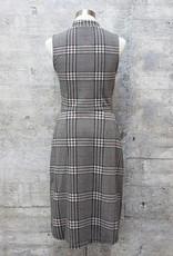 Leota Alyssa Dress Plaid Grey