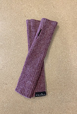 Fraas Chenille Metallic Arm Warmer in Plum