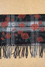 Fraas Cashmink FP & Roses Scarf in Black