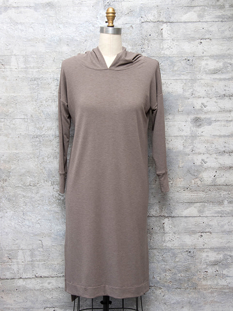 Nally and Millie Hooded Dress in Cobblestone