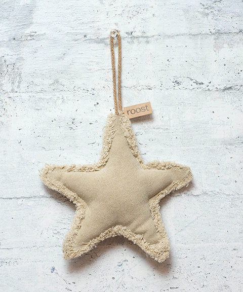 Roost Fringed Canvas Large Star Ornament