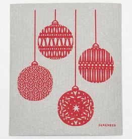 Esthetic Living Swedish Dishcloth Christmas Grey Red