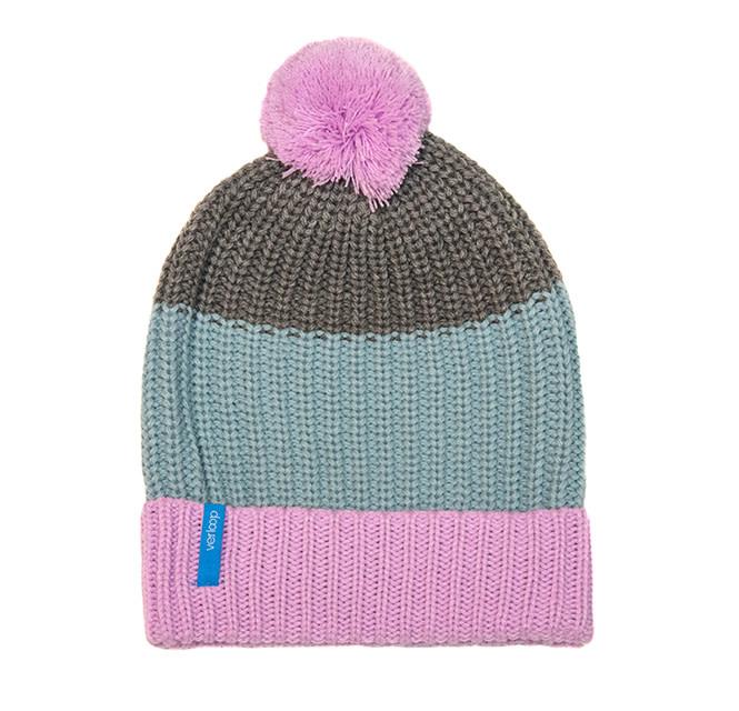 Verloop Kids Pom Hat in Lilac Grey