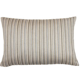 Kreatelier Stripe Pillow in Neutrals 15 x 23in