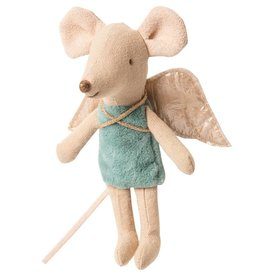 Maileg Fairy Mouse  Little Sister Blue in Box