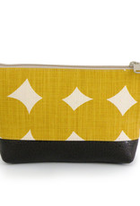 Red Staggerwing Cosmetic Clutch small in Yellow Dots