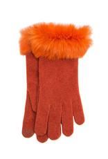 Santacana Wool and Cashmere Glove Fur Terracotta