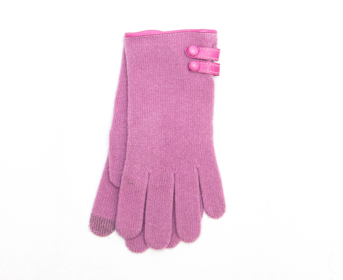 Santacana Wool and Cashmere Glove Tabs Rose