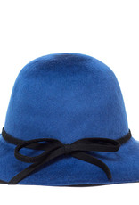 Santacana Cloche Felt Hat Blue