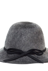 Santacana Cloche Felt Hat Grey