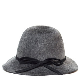 Santacana Cloche Felt Hat Grey