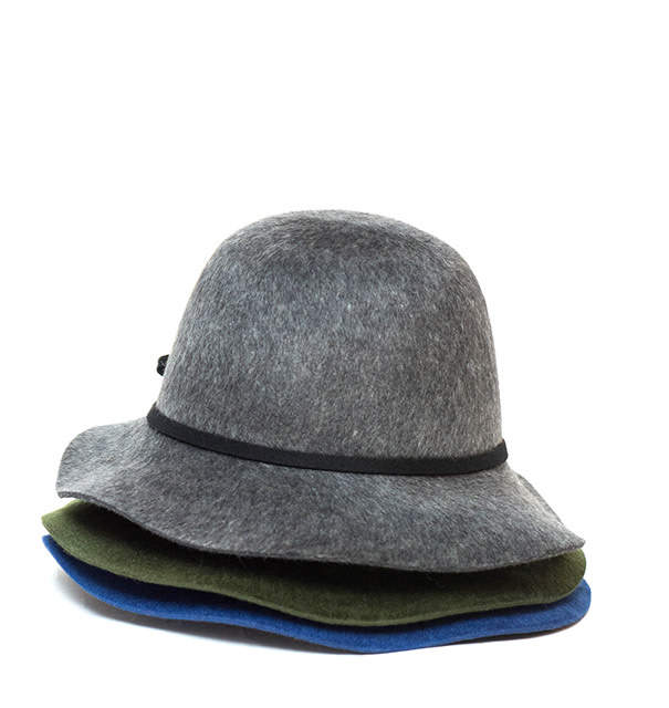 Santacana Cloche Felt Hat Green