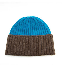 Santacana Wool and Cashmere Hat Blue Brown