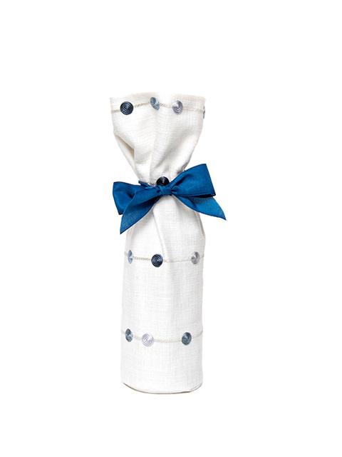 Kreatelier Bottle Gift Bag Blue Dot Stripe