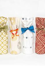 Kreatelier Bottle Gift Bag Morrocan Tile Red
