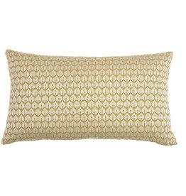 Kreatelier Leaf Pillow in Chartreuse 14 x 24in