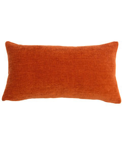 Kreatelier Solid Pillow in Burnt Orange 10 x 18in