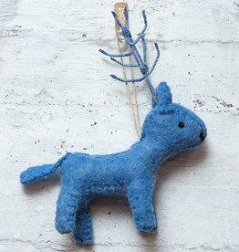 Roost Reindeer Ornament Light Blue