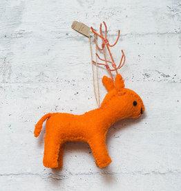 Roost Reindeer Ornament Orange