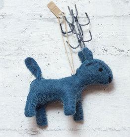 Roost Reindeer Ornament Blue