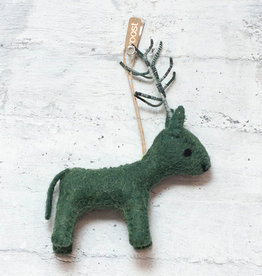 Roost Reindeer Ornament Green
