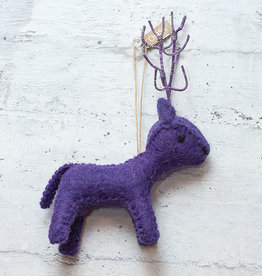 Roost Reindeer Ornament Purple