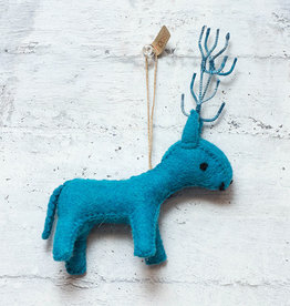 Roost Reindeer Ornament Turquoise