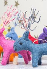 Roost Reindeer Ornament Purple