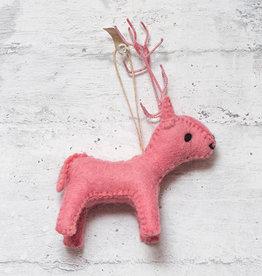 Roost Reindeer Ornament Rose