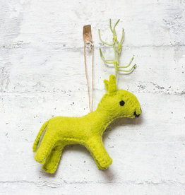 Roost Reindeer Ornament Lime Green
