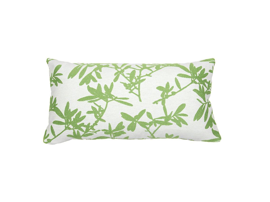 Kreatelier Vine Pillow in green 11 x 21in