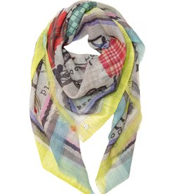 Fraas Fashion Goats Scarf in Multi