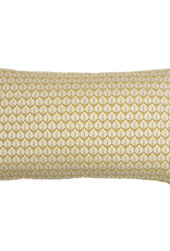 Kreatelier Leaf Pillow in Chartreuse 12 x 21in