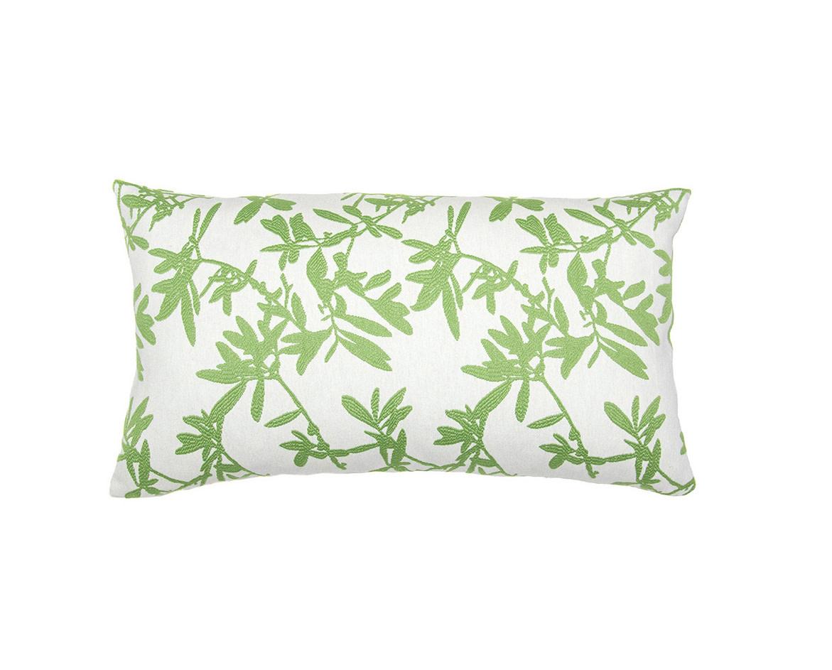 Kreatelier Vine Pillow in Green 14 x 24in